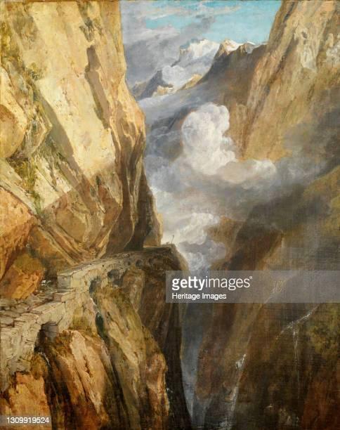 The Pass of Saint Gotthard, Switzerland, 1803-04. Artist JMW Turner. .