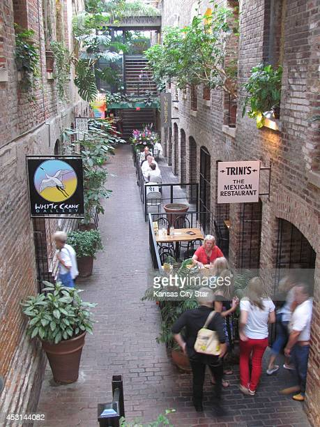 'The Passageway' one of the most picturesque spots in Old Market in downtown Omaha Neb is home to galleries and restaurants