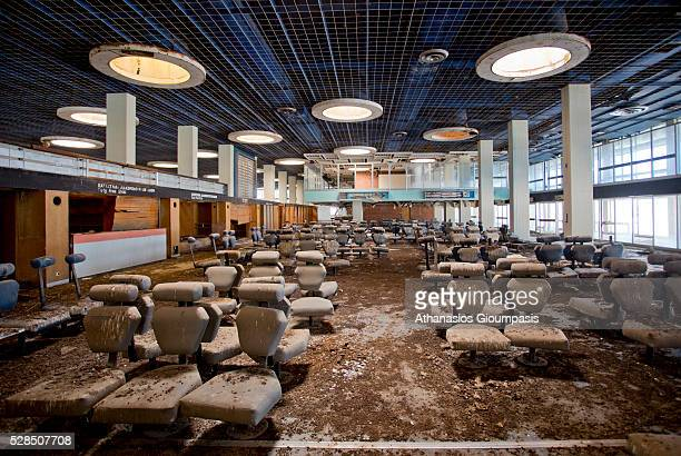 The passenger departure area at the abandoned Nicosia International Airport on April 28, 2016 in Nicosia, Cyprus .On 27 March 1968 a modern new...