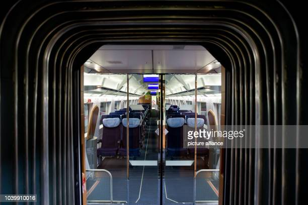 The passenger section is pictured in a modernized ICE2 train owned by German Railways at DB's maintenance factory in Nuremberg Germany 12 July 2013...