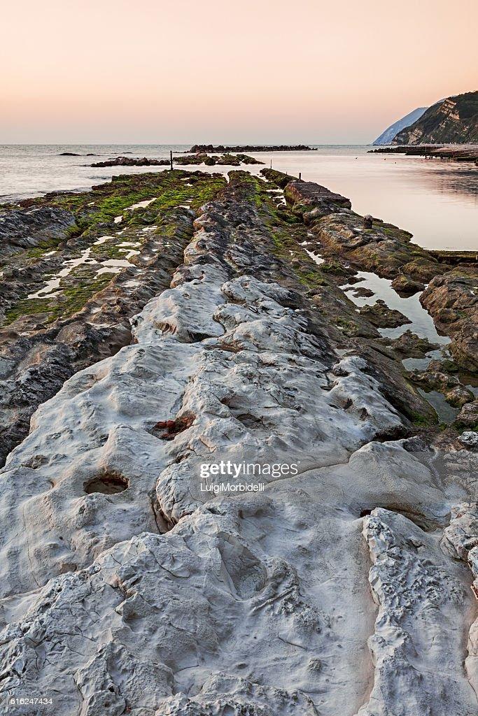 The passetto rocks, Ancona, Italy : Stock Photo