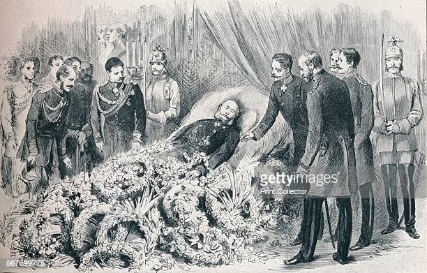 the deathbed of William I 1888 From Edward VII His Life and Times Volume II edited by Sir Richard Holmes KCVO [The Amalgated Press Ltd London 1911]