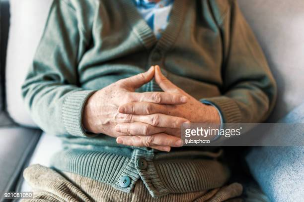 the passing of time can be seen in the hands - gerontology stock pictures, royalty-free photos & images
