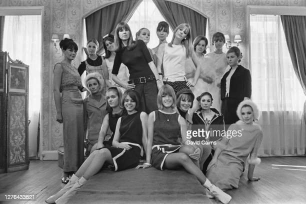 The passing out parade at the Lucie Clayton Charm Academy, a modelling agency in London, UK, 5th November 1965. The class includes Joey Cook, Lyanne...