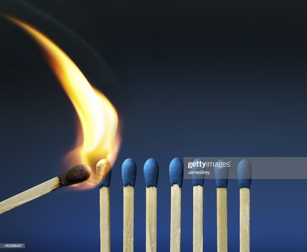 The Passion of One Ignites New Ideas, Emotions, Change : Stock Photo