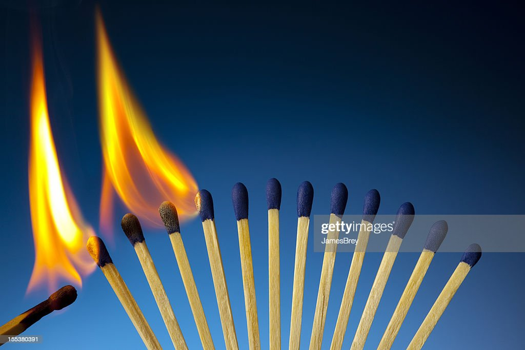 The Passion of One Ignites New Ideas, Social Movements, Change : Stock Photo
