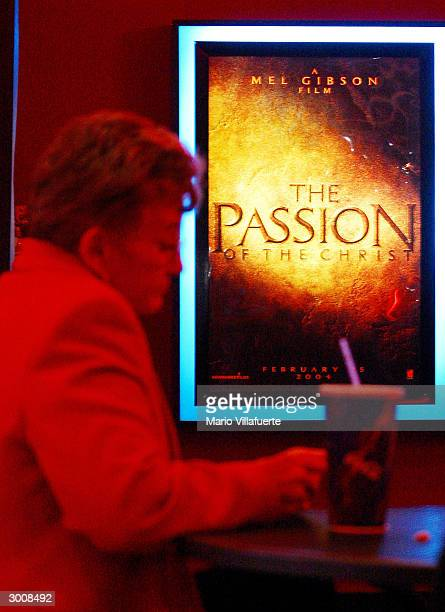 'The Passion of the Christ' movie poster can be seen hanging in a Regal Cinema movie theater February 23 2004 in Bossier City Louisiana 337 members...