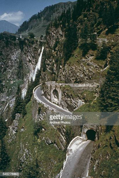Splügen Pass mountain pass between the Western and Eastern Alps Italy circa 1960