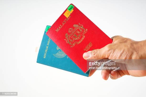 the passport book - redactioneel stockfoto's en -beelden