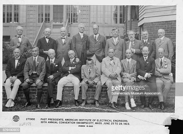 The past presidents of the American Institute of Electrical Engineers at the 39th annual convention | Location Swampscott Massachusetts USA