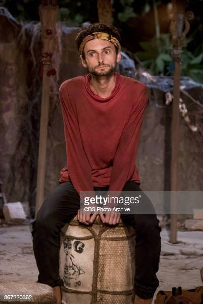'The Past Will Eat You Alive' Ryan Ulrich at Tribal Council on the fifth episode of SURVIVOR 35 themed Heroes vs Healers vs Hustlers airing Wednesday...