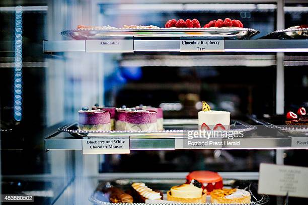 The pastry case at Portland Patisserie in the Old Port is filled with bright colors and a variety of desserts seen Friday July 24 2015