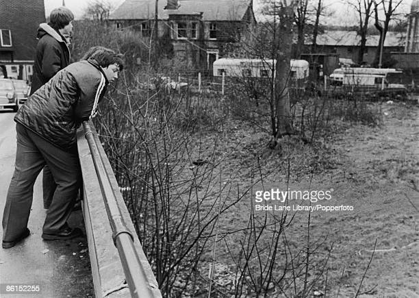 The patch of wasteground off Alma Road Headingley Leeds where the body of Jacqueline Hill was found a few days before 4th December 1980 Hill was the...