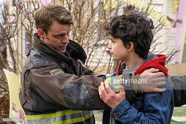 FIRE The Path of Destruction Episode 411 Pictured Jesse Spencer as Matthew Casey Lucas Jade Zumann as Lucas Hicks