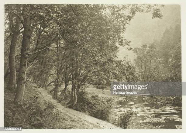 The Path Over The First Brae, Dove Dale, 1880s. A work made of photogravure, plate xli from the album 'the compleat angler or the contemplative man's...