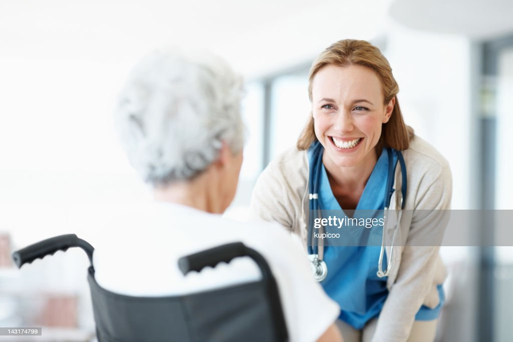 The patients I see are also my friends : Stock Photo