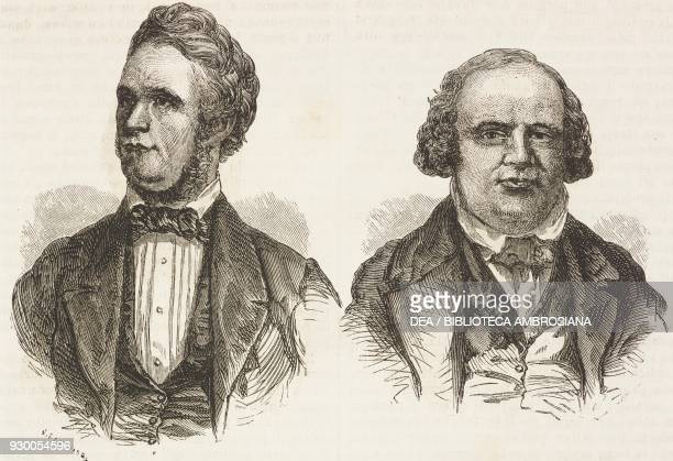 The patriarchs John Taylor and Willard Richards , United States of America, drawing by Mettais from one by Francois-Fortune Ferogio and Jules Remy ,...