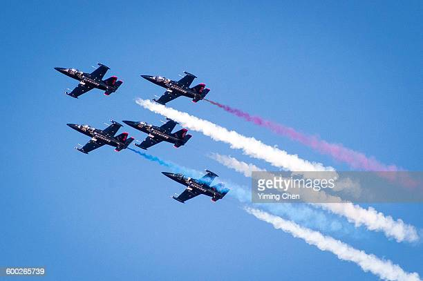 the patriots jet team - patriotic stock pictures, royalty-free photos & images