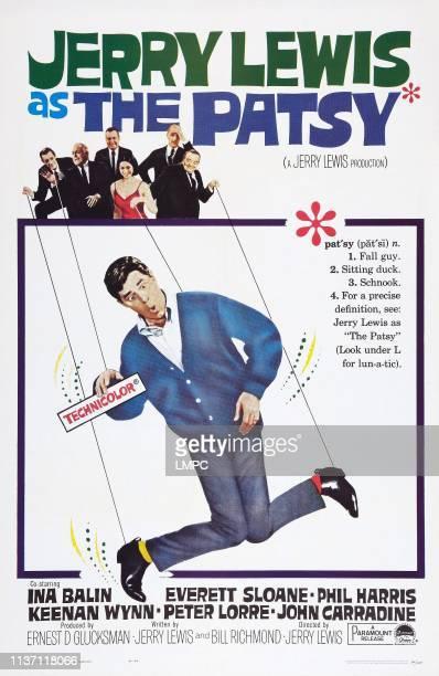 The Patsy poster US poster art top from left John Carradine Everett Sloane Phil Harris Ina Balin Keenan Wynn Peter Lorre bottom Jerry Lewis 1964