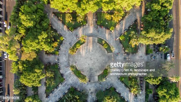 the pattern of merida plaza grande - メリダ ストックフォトと画像