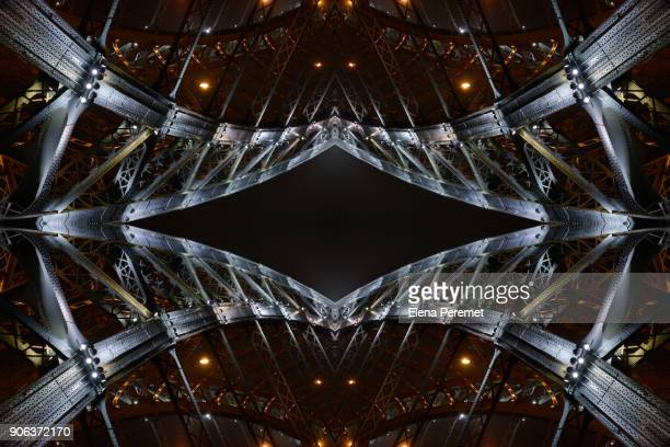 The pattern of the bridge of Peter the Great, Saint-Petersburg, Russia