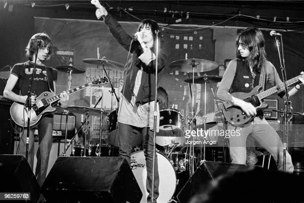 The Patti Smith Group Ivan Kral Patti Smith Jay Dee Daugherty and Lenny Kaye perform on stage in May 1976 in Copenhagen Denmark