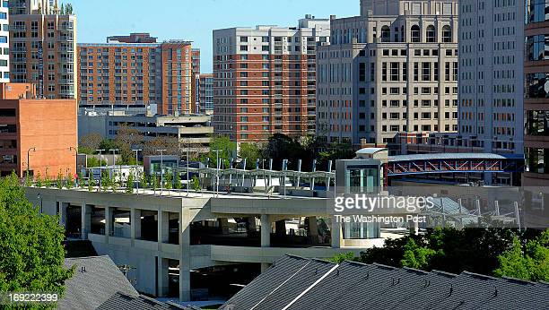 The Paul Sarbanes Transportation Center yet to open in this view from a nearby rooftop on May 2013 in Silver Spring MD