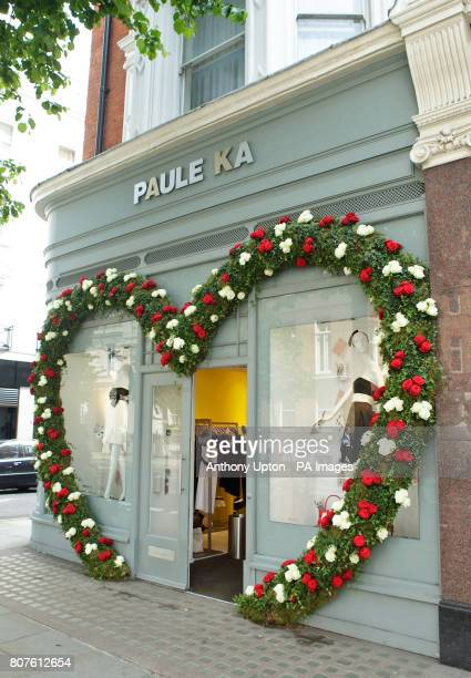 The Paule Ka window display an entrant in this year's Alice in Wonderland themed Sloane in Bloom a weeklong competition organised in support of the...