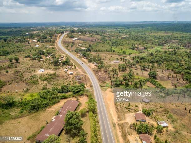 The paved road from monrovia to Ganta, Liberia.