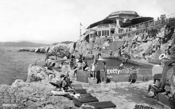 The pavilion Eden Roc on Antibes cape postcard 1933