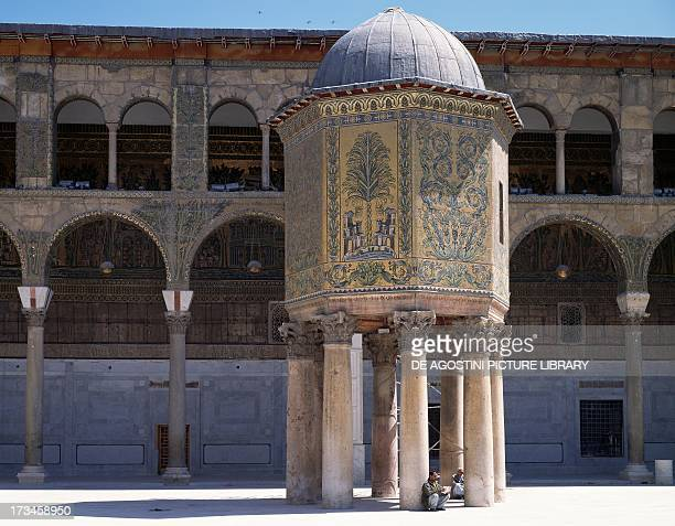 The pavilion of the Treasury covered with mosaics Umayyad Mosque also known as the Great Mosque of Damascus the ancient city of Damascus Syria