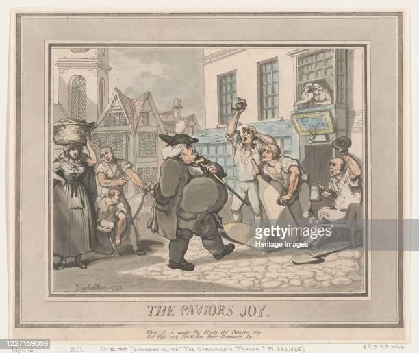 The Pavior's Joy 1792 Artist Thomas Rowlandson