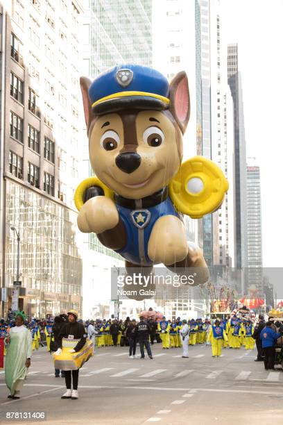 The PAW Patrol balloon is seen at the 91st Annual Macy's Thanksgiving Day Parade on November 23, 2017 in New York City.