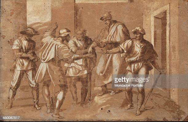 The Payment of the Vinedressers by a copy from Andrea d'Agnolo known as Andrea del Sarto 17th Century pen and watercolour bistre ceruse on paper...