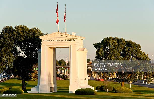 Peace Arch at Sunset