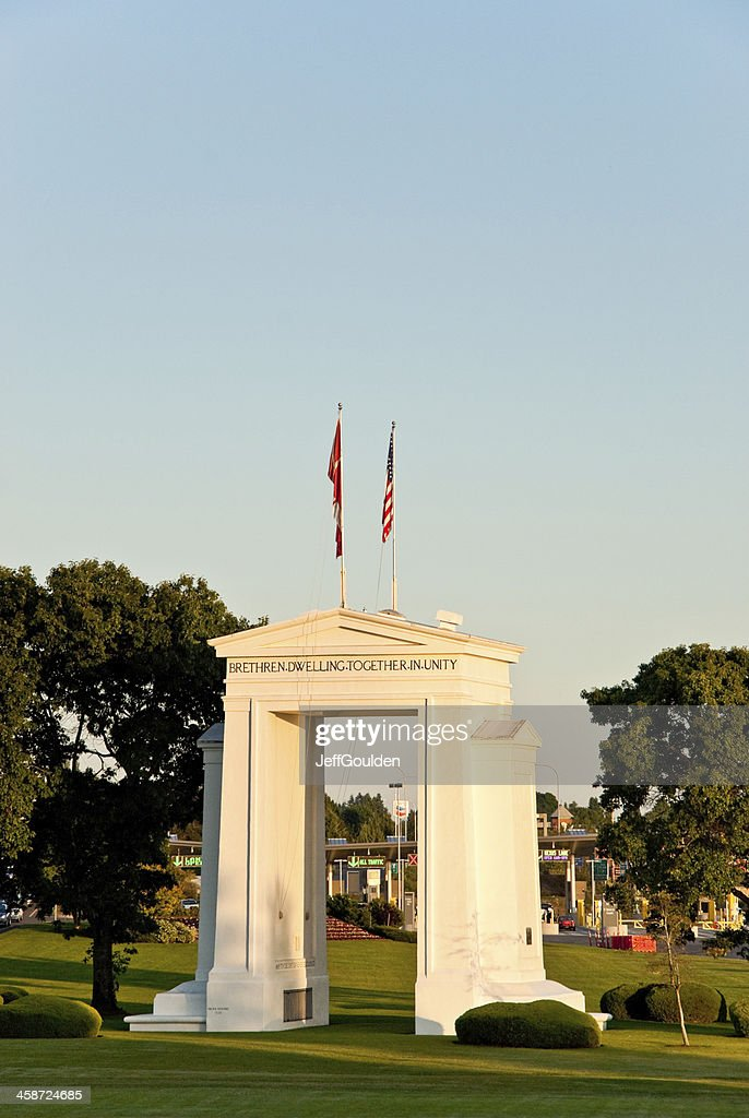 Peace Arch at Sunset : Stock Photo