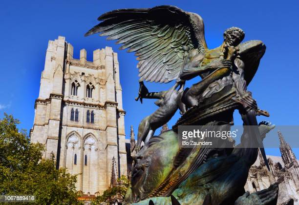 The Peace Fountain by Greg Wyatt, next to the Cathedral of Saint John the Divine in New York City.