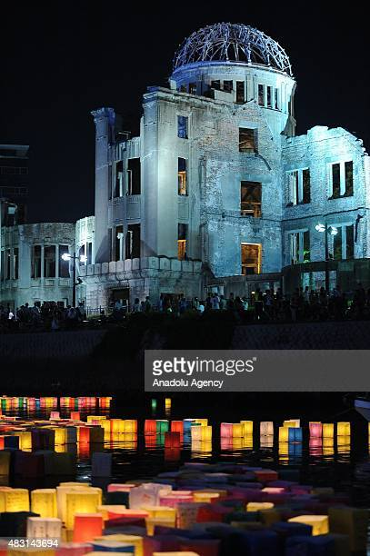 The Peace Message Lantern Floating Ceremony is held in front of the Atomic Bomb Dome to console the souls of the ABomb victims after the Hiroshima...