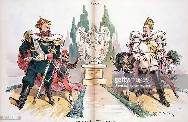 The peace of Europe is assured by Udo Keppler 18721956 artist Published 1893 Alexander III labelled Russia looking at Wilhelm II labelled Germany who...