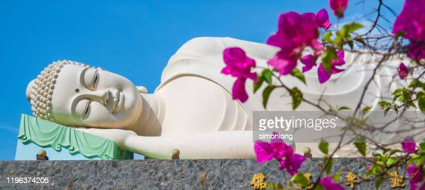 the peace of sleeping buddha - caricature stock pictures, royalty-free photos & images