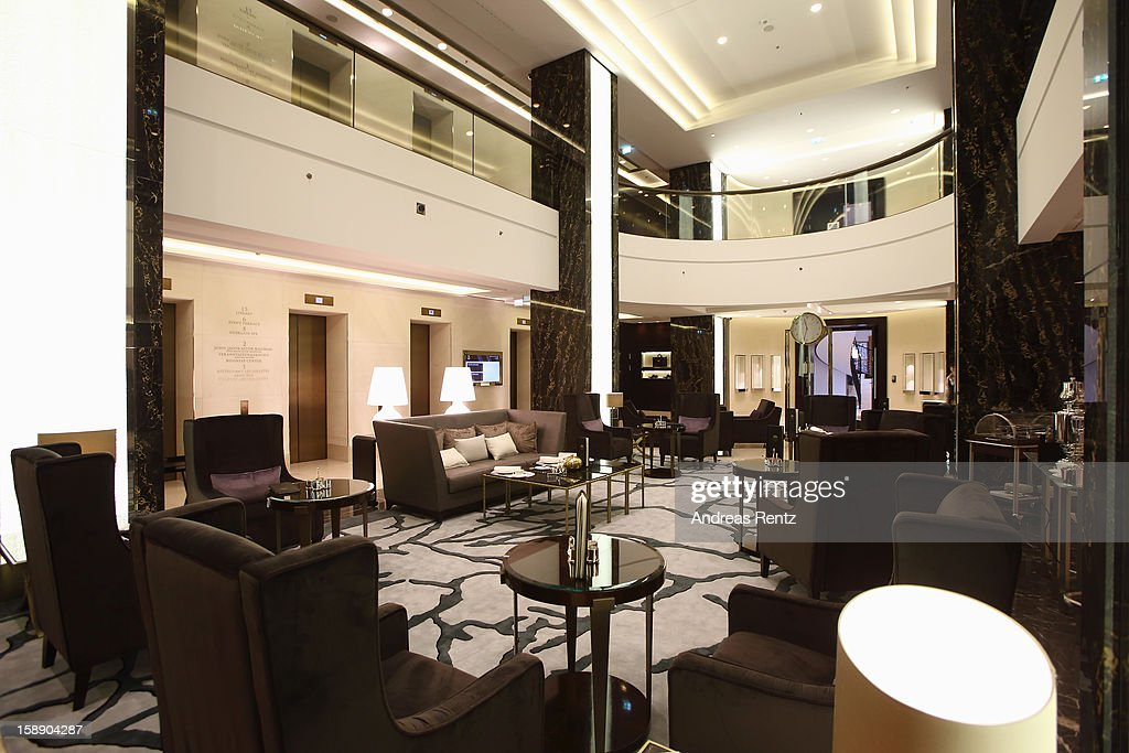 The Peacock Alley lobby is pictured during the opening of Germany's first Waldorf Astoria hotel on January 3, 2013 in Berlin, Germany. The luxury Waldorf Astoria Berlin with its 232 luxury guest rooms and suites on 32 storeys is located near the Kaiser Wilhelm Memorial Church (Kaiser-Wilhelm-Gedächtniskirche).