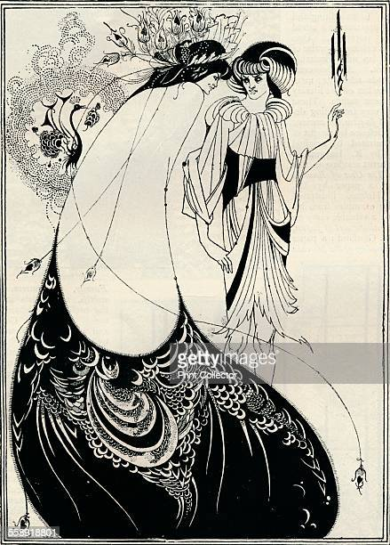 'The Peacock Girl' 1893 An illustration for Salome by Oscar Wilde From The Studio Volume 2 [London Offices of the Studio London 1893]