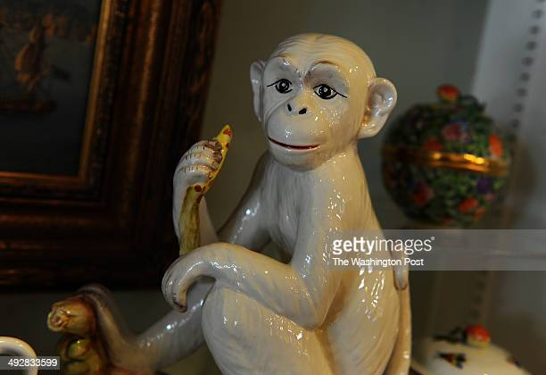 The Peak House store offers elegant and casual dinnerware and ceramics including this ceramic monkey that is part of a pair Shopping in Annapolis...