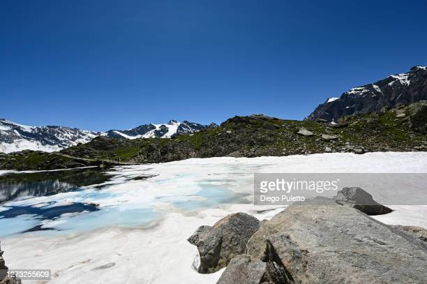 the peak of gran paradiso - puletto diego stock pictures, royalty-free photos & images