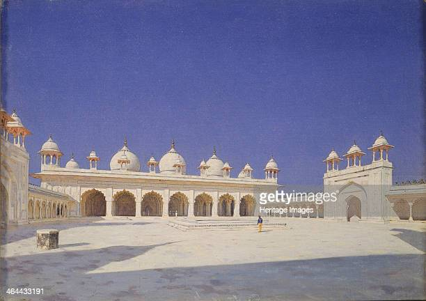 The Pearl Mosque in Red Fort of Agra 18741876 Found in the collection of the State Tretyakov Gallery Moscow