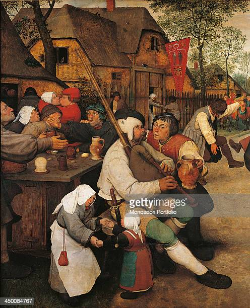 The Peasant Dance by Pieter Bruegel the Elder 16th Century oil on wood 114 x 164 cm