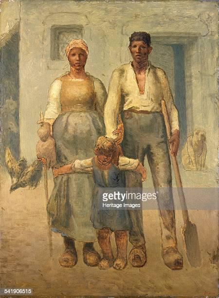 The peasant family' 187172 Artist Jean Francois Millet