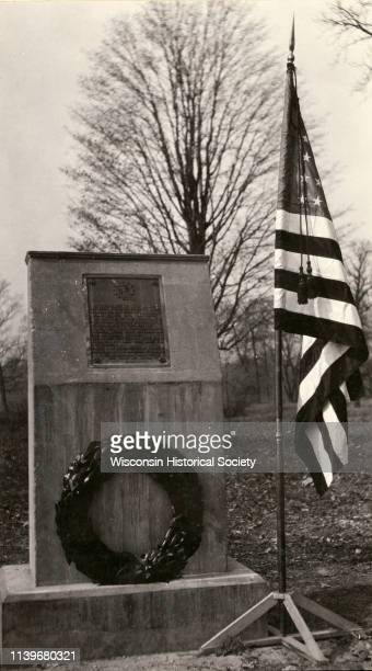 The Pecatonica Battlegound marker, erected by the Rhoda Hinsdale Chapter of the Daughters of the American Revolution of Shullsburg and by the town of...