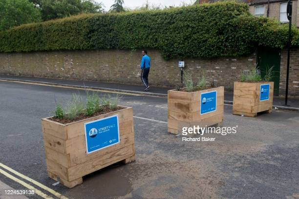 The pedestrianised road junction at Carlton Avenue, Court Lane and Dulwich Village, has been blocked off to passing traffic with plant boxes at the...