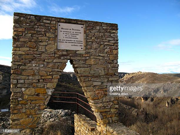 The Pelegrina viewpoint on the Dulce River Natural Park dedicated to the memory of the naturalist and divulger of wildlife Felix Rodriguez de la...